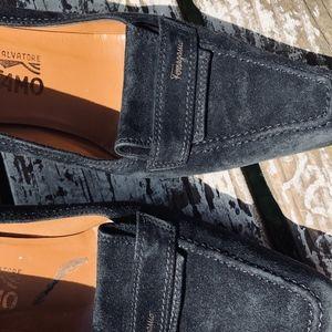 Black Suede Salvatore Ferragamo Italian Pump Heels